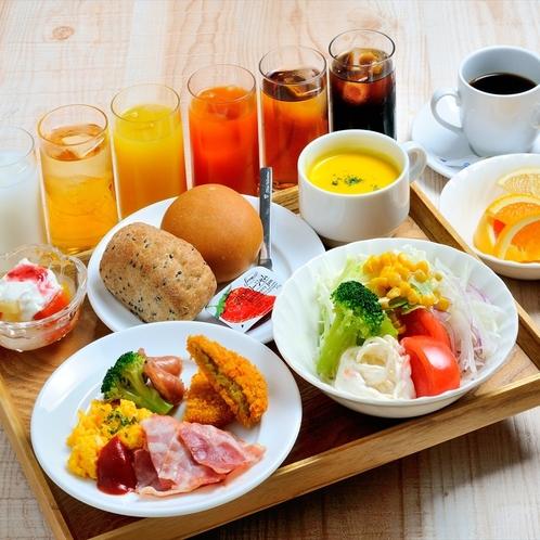 朝食バイキング(洋食盛り付け例)
