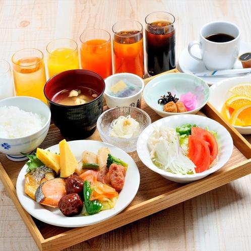 朝食バイキング(和食盛り付け例)