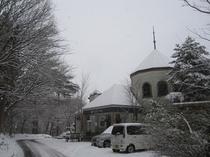 冬のロッジ