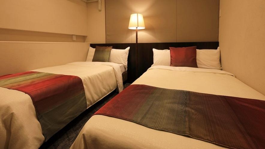 【プレミアムスイート】寝心地にこだわった上質な高反発マットレスを全ベッドに使用。