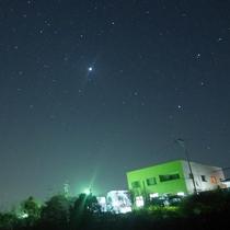 【星空】宿上空を撮影、宿の周りでもたくさんの星ご覧になれます