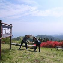 【田束山】標高512m、山頂は三陸海岸を一望できる絶景スポット、車で頂上付近(約30分)までいけます