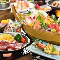 日本最高級ランク【仙台黒毛和牛ステーキ(100g)】付き★肉料理も楽しみたい方へお勧め♪