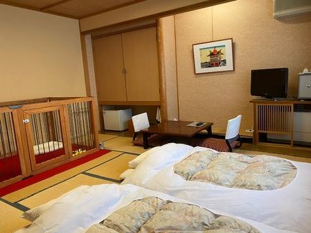 超大型犬対応サークル付きペットと泊まれる和室(2人部屋)