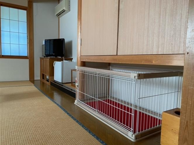 小型犬~中型犬対応サークル付き和室