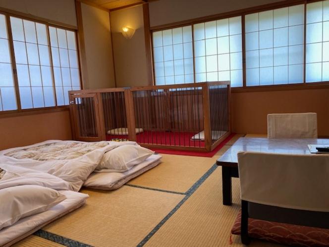 大型犬対応ペットと泊まれる和室(2人部屋)