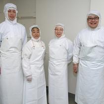 製造工場スタッフ おいしい食品を安全に手配致します