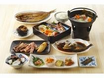 夕食① 礼文島をまるごと味わえる食事です