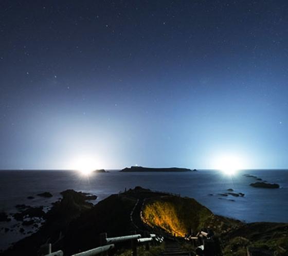 夜のスコトン岬