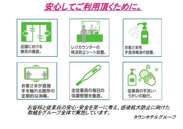コロナウイルス感染症防止対策