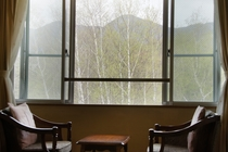 山側客室からの眺め