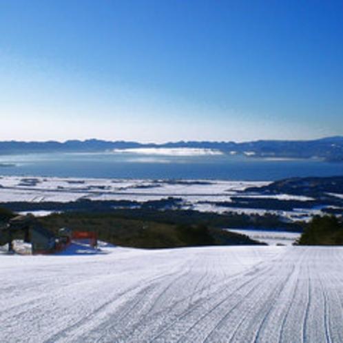 猪苗代リゾートスキー場、整備したてのゲレンデ