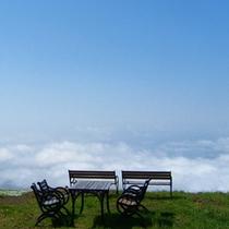 ゴンドラ山頂駅から望む雲海。まさに天空♪