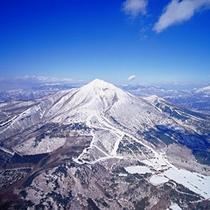 上空からみる猪苗代リゾートスキー場。
