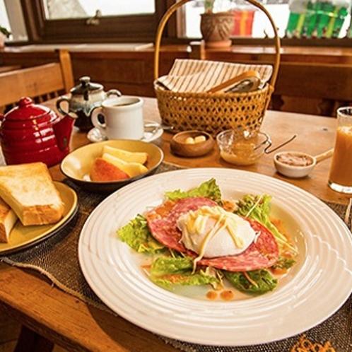 イングリッシュスタイルの朝食例