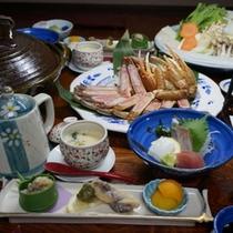 【お料理】カニすき会席