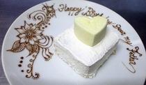 模様入り皿ケーキ