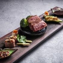 【2020夏のお献立】強肴/登別牛フィレ肉のグリルとモモ肉の野菜ロール