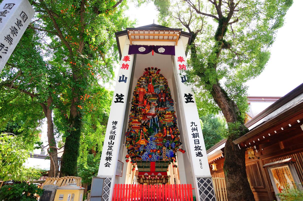 櫛田神社の飾り山 (提供:福岡市)