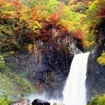 秋の苗名滝