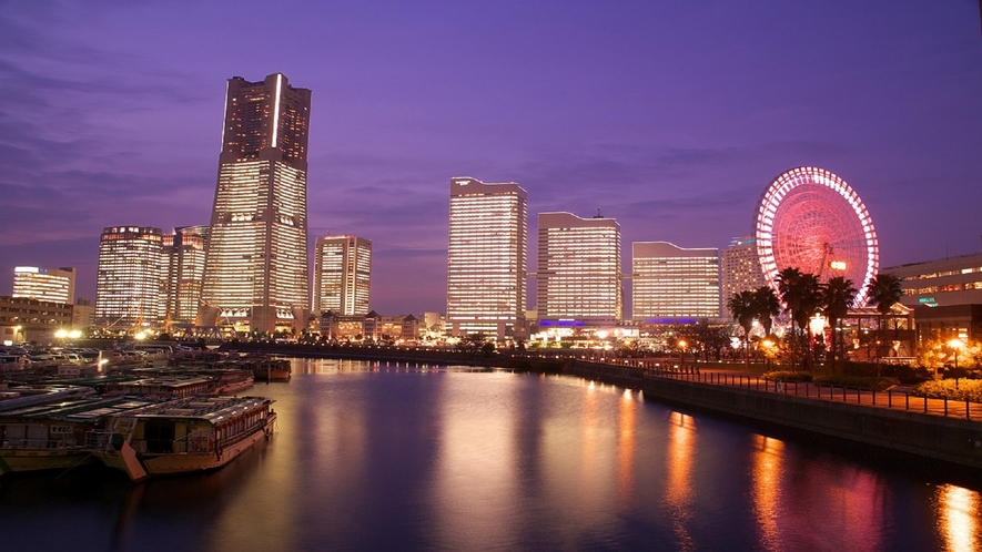 横浜といえばみなとみらいの夜景