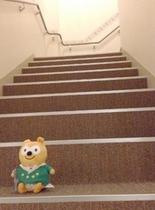 2階への階段はお風呂や自動販売機コーナーへ好アクセス!