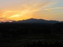 栗駒山の夕焼け