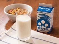 ふくしまの大自然の中で大切に育てられた搾りたての生乳を使用。牛乳本来の脂肪・カルシウムが豊富です。