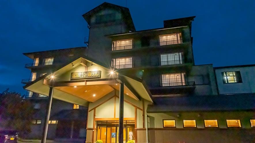 温かなひかりでお出迎え。冬の黒部ビューホテル