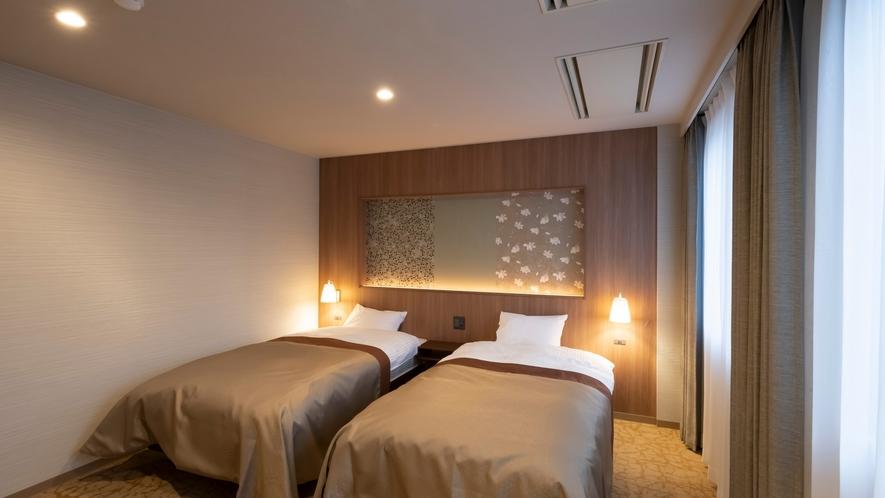 【森のやすらぎ】シーリー製のベッドで安らかな夜のひとときを。快眠をお約束。