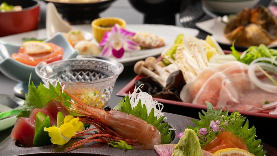 彩鮮やか、料理長が腕を振るう信州の食材たちのハーモニー。