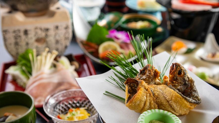 サクサク美味しく頂ける、黒部ビューホテル人気の一品「ニジマスの円揚げ」
