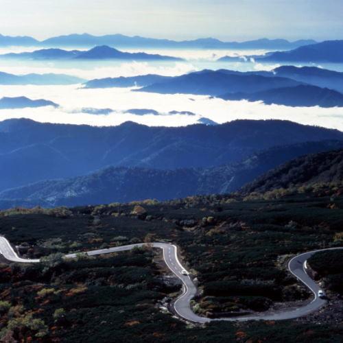 乗鞍岳 エコーラインと雲海