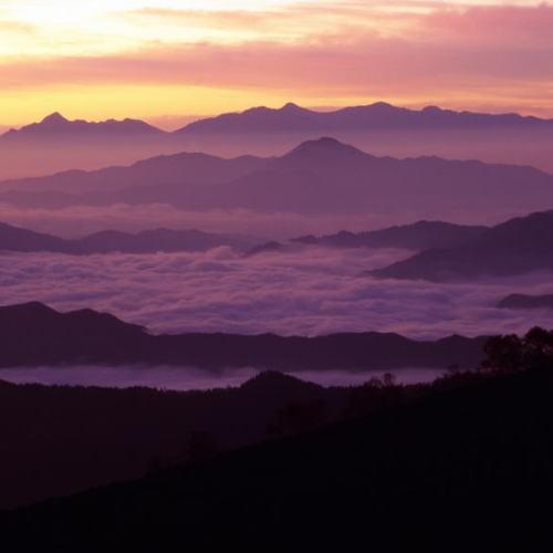 乗鞍岳 位ヶ原周辺の夕景