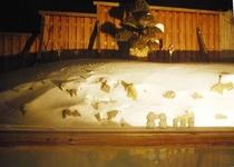 雪見露天風呂 「琢磨の湯」 静けさの中に湯音だけが鳴り響く