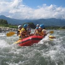 ■天竜川でラフティング!
