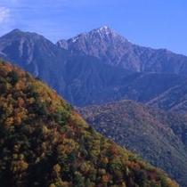 ■エコーライン紅葉と聖岳