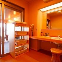 ■貸切風呂 脱衣所