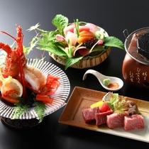 【特別会席〈板長コース〉一例】料理長厳選のお料理をお愉しみください