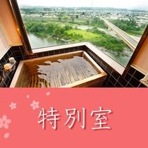 和室二間 檜の眺望風呂付きのお部屋