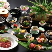 【彩の料理 一例】女将太鼓判!メインは長野県産、霜降和牛の鉄板焼き