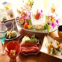 旬の食材を使用した当館自慢の「会席料理」★