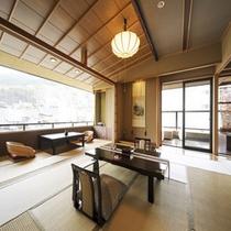 お部屋は和室12畳(掘りごたつあり)+8畳。広々とお寛ぎ頂けます。