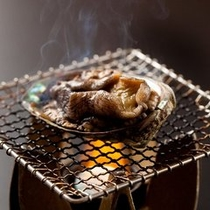 【プラン&別注料理】活けアワビ踊り焼き
