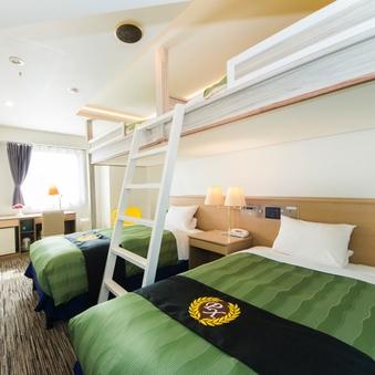 【喫煙】2段ベッド/フォース/無料Wi-Fi・加湿空気清浄機