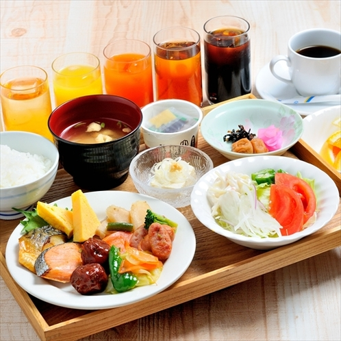 朝食バイキング一例