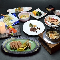 「花遊膳」特製釜飯と蟹の膳コース