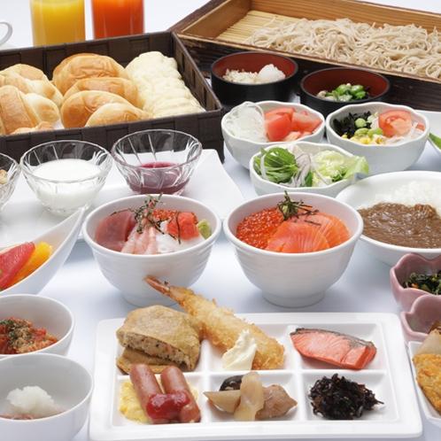 「朝食」和・洋・中50種類以上お料理