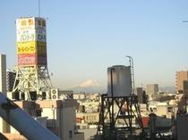 屋上から見える富士山・冬季