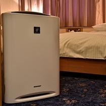 【加湿機能付き空気清浄機・全室完備】プラズマクラスターも付いております。